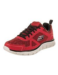 Skechers Men's Track - Bucolo, Athletic, Red/Black,