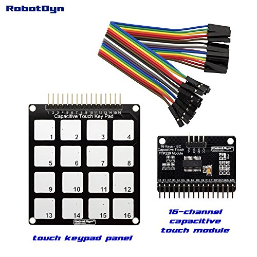 RobotDyn - Capacitive Touch Matrix Pad (16 Pads) + Capacitive Touch Sensor Module (TTP229) with I2C Interface.