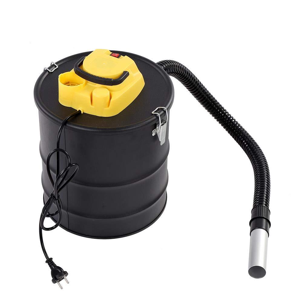 20 L 1000W Aspirateur /à Cendres Vide Aspirateur Chemin/ée /à Charbon Cylindrique pour le Nettoyage des Chemin/ées Aspirateur /à Cendres