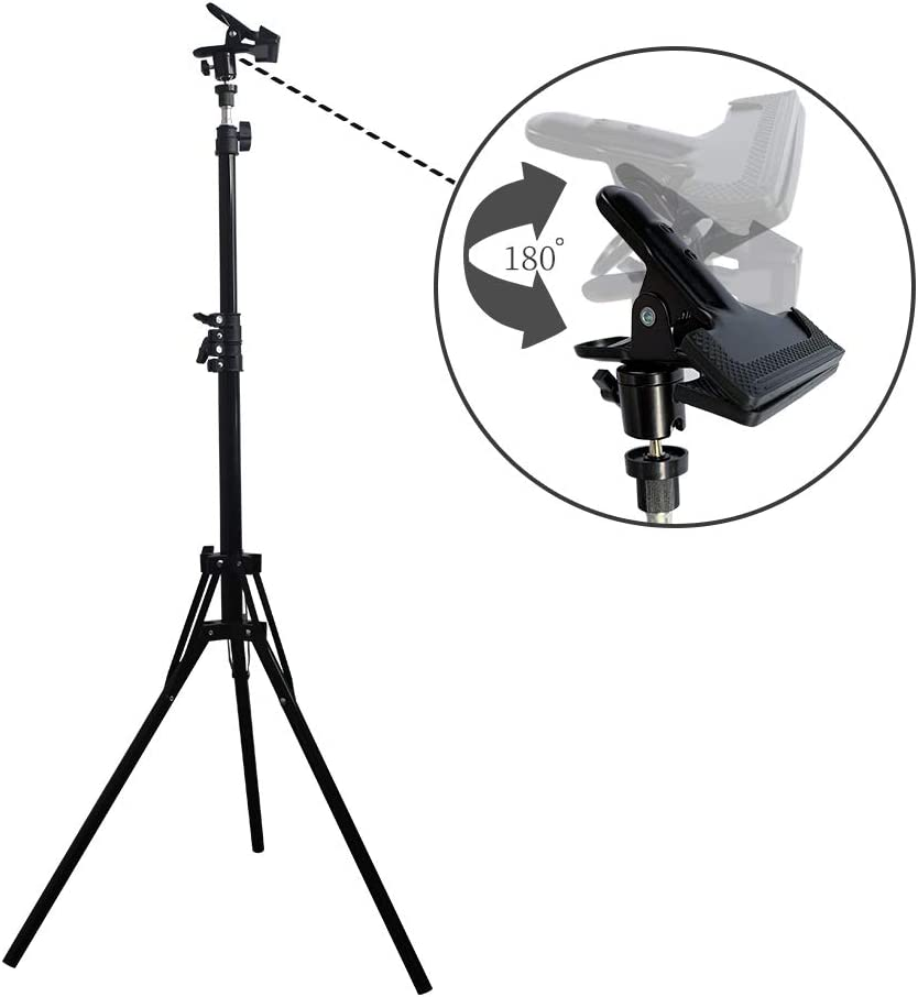 Spardar Telescopic Reflector Holder Extendable Boom Arm 360 Degree Swivel with Adjustable Length for Photo Studio Product and Portrait Photography