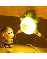Marswell Led Nightlight Charging Plug, Turtle Wall Night Lamp Charger Station with Voice Sensor, Light Sensor