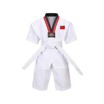 Yiliankeji Adulto Niño Hombre Dobok Taekwondo Kimono Traje - Artes ...