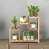 Creative Solid Wood Window Sill Flower Shelf, Multi-Layer Floor-Standing Flower Rack, Mini Bedroom Desk Table Top Shelf Storage Rack (Color : Carbonized Color)