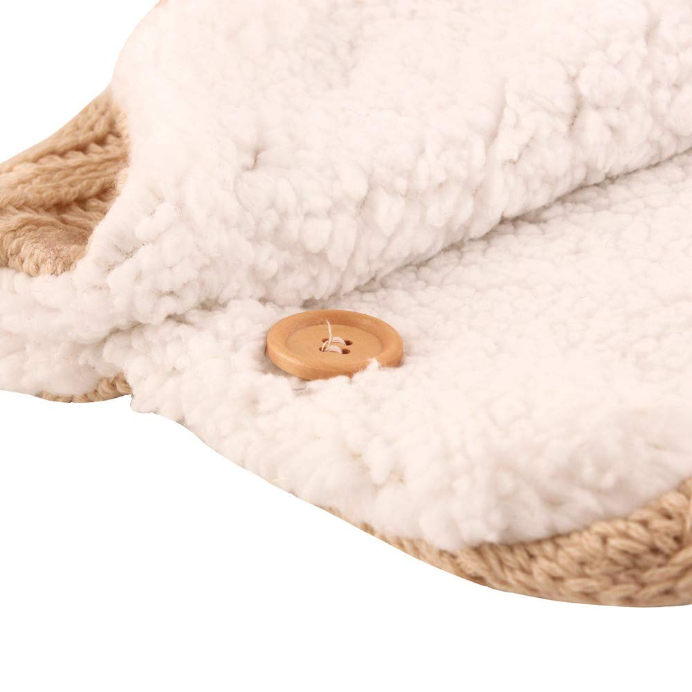 Schlafs/äcke Baby Winter,Neugeborenes Baby Gestrickt Wickeln Swaddle Decke Kinderwagen Schlafsack f/ür 0-24 Monat Baby Beige B, 38 * 70cm