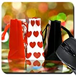 MSD Suqare Mousepad 8x8 Inch Mouse Pads/Mat design: 35238040 Image of gift shopping bags