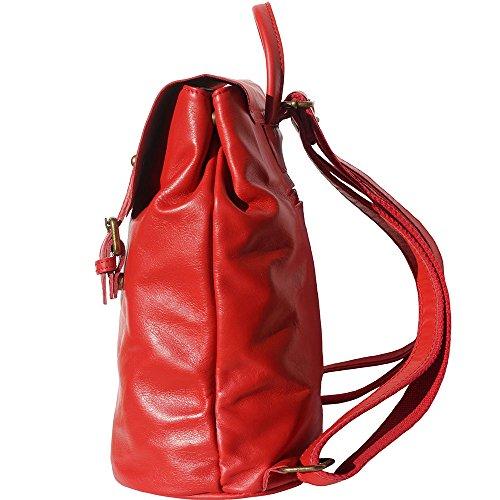 3010 Rojo Natural Florence Market En Leather Vara Piel De Becerro Mochila wz7BqHx1