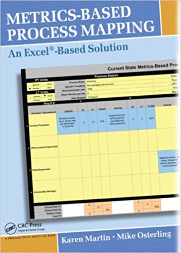 metrics based process mapping an excel based solution amazon co uk