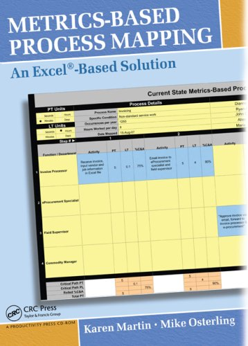 Metrics-Based Process Mapping: An Excel-Based Solution (Metrics Based Process Mapping)