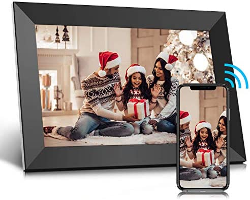 Jeemak Digital Picture Frame 10.1 inch WiFi Photo Frame with HD Touch Screen Auto-Rotate Share Photos and Videos by the use of App at Anytime and Anywhere