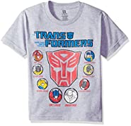 Transformers Boys' Big Boys' Youth Short-Sleeved T-Shirt Tearaway Label