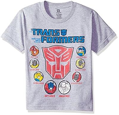 Transformers Boys' Big Boys' Youth Short-Sleeved T-Shirt Tearaway Label