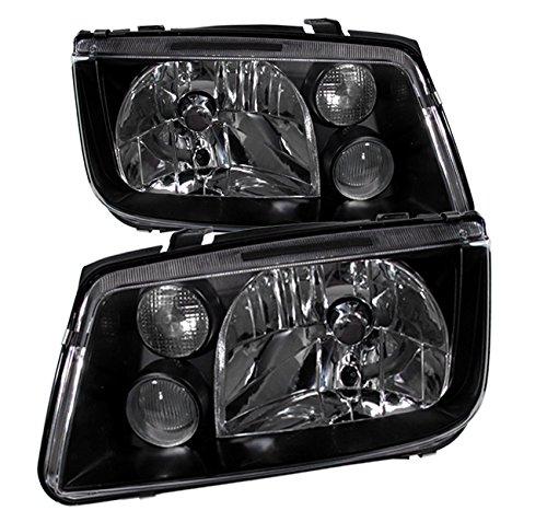 - AJP Distributors For Vw Volkswagen Jetta Bora MK4 MKIV Euro VAG Headlights Head Lamps Lights Fog City Lights 1999 2000 2001 2002 2003 2004 2005 99 00 01 02 03 04 05 (Black Housing Clear Lens)