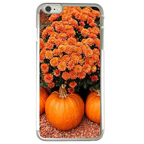 Image Of Fall Halloween Pumpkin Flowers Mums Apple iPhone 6 / 6S Clear Phone Case Mums Pumpkins