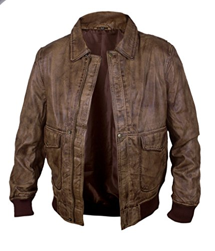 Jacket amp;H F In Men's Waxed Leather Our Bomber Ansel marrón Fault Stars Genuine Elgort 7dqdYw