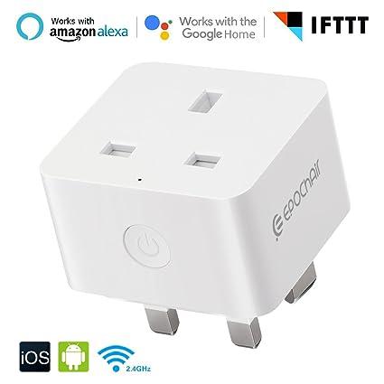 Smart Home Wifi Plug, EpochAir inalámbrico Smart Socket Interruptor de encendido con salida de alimentación