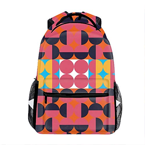 Geometric Kids Backpack School Book Bag for Toddler Boys Girls]()