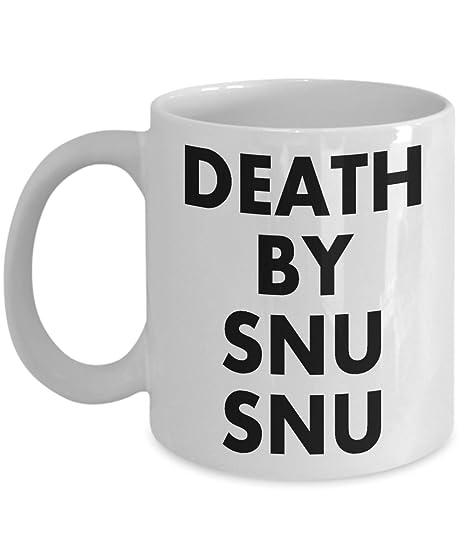Amazoncom Funny Meme Saying Coffee Mug Death By Snu Snu