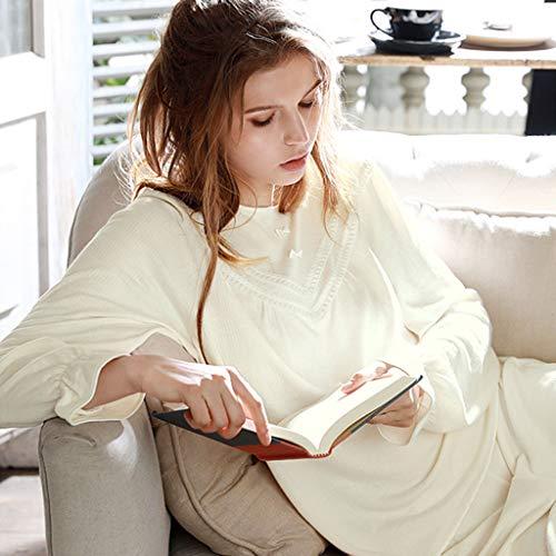Cómodos Suaves Niña Y Estaciones Sexy Todas Hogar Para De Disponibles En El Bordados Finos Yellow Algodón Mujer Pieza Las Encaje Moda Pijamas Una X6n7Onz