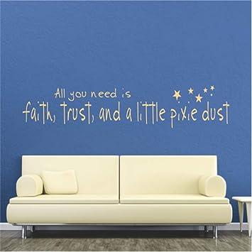 pegatinas de pared infantiles Todo lo que necesita es fe ...