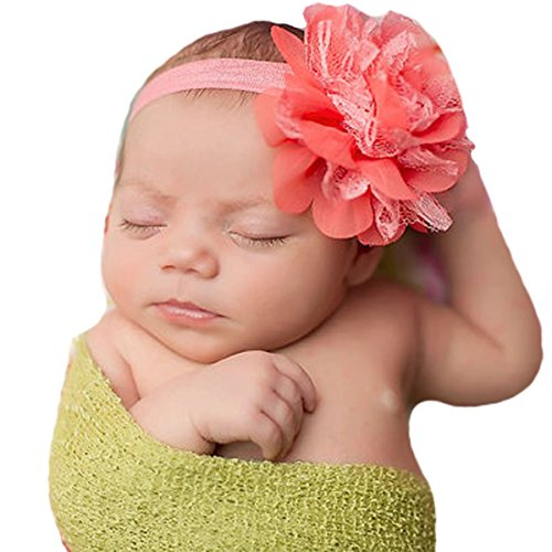 Miugle Baby Coral Headbands Big Hair Bow Toddler Girls Hair Band for Take Photos