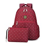 Waterproof Canvas Mummy Diaper Backpack Fit Stroller Small Bag Set for Mom Dad (RED)