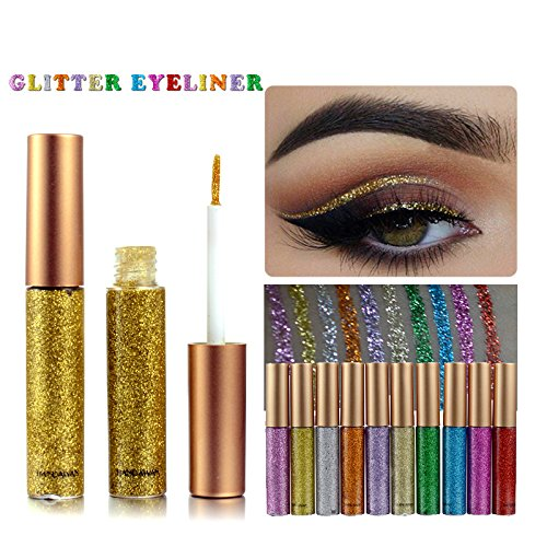 Glitter Liquid Eyeliner Set 10 Colors, Metallic Liquid Glitt