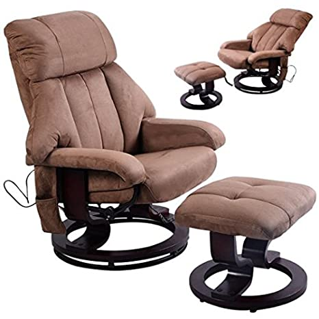 Amazon.com: giantex café Silla Reclinable con Otomano de ...