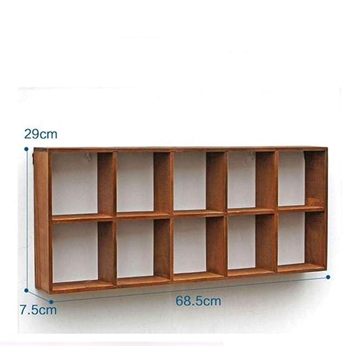 Amazon.com: TTW Home - Estantería de madera para colgar en ...