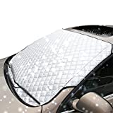 "Lemonda Universal Thick Car Windshield Snow Cover Fits SUV, Truck & Car, Ice and Frost Guard, Sun Exposure,Anti-dust Windshields 70"" X 37"""