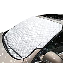 Lemonda Universal Car Windshield Snow Cover Fits SUV, Truck & Car for All Seasons, Ice and Frost Guard, Sun Exposure,Anti-dust Windshields 70 X 37