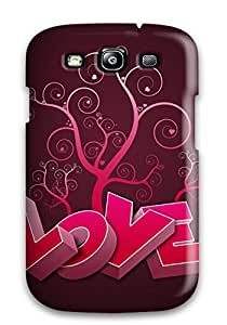 Bareetttt Scratch-free Phone Case For Galaxy S3- Retail Packaging - Love 1080p