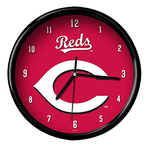 The Memory Company MLB Cincinnati Reds Official Black Rim Basic Clock, Multicolor, One Size
