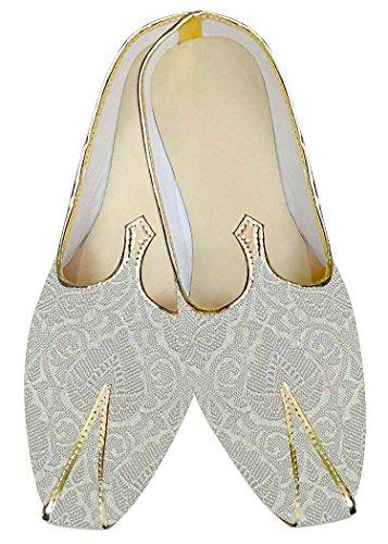 INMONARCH Crema Hombre Zapatos de Boda Tradicional MJ014829