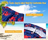 Youth Boys 3d Floral Digital Printed Swimwear Solid Red Navy Lobster Gentleman Cap Two Piece Full Sleeve Short Underwear Character Bathing Suit Sets Brazilian Rash Vest Guard Sunsuit for Hawaii Cruise