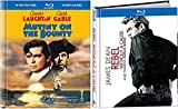 Rebel Without a Cause Blu Ray Book Set & Mutiny on the Bounty (1935) Blu Ray Book Edition 2 Pack Movie Action James Dean Drama Classic Double Feature