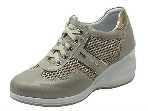 Platino Per Con Savana Sneakers Nero Donna Beige Nerogiardini Spiro Tessuto T Zeppa E In Giardini Pelle Alta qtnnavOpx