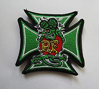 da1da4e35d43 Rat Fink Military Patch Fabric Embroidered Badges Patch Tactical Stickers  for Clothes with Hook & Loop