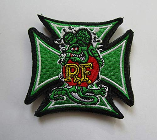 Rat Fink Military Patch Fabric Embroidered Badges Patch Tactical Stickers for Clothes with Hook & Loop for $<!--$10.99-->