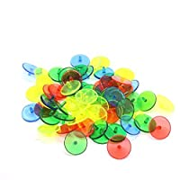 100 Pcs Plastic Transparent Golf Ball Position Marker Assorted Color Marker Mark by IDS