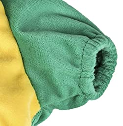 PetsLove Pet Outwear Velvet Dinosaur Costume Apparel for dogs Green XL