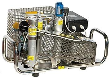 HTD - Compresor de Aire (100 l/min, Motor eléctrico de 300 Bar, 220 V, Carcasa de Acero Inoxidable): Amazon.es: Deportes y aire libre