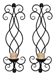 Deco 79 66718 Metal Candle Sconce Set of 2