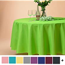 Remedios 120-inch Round Polyester Tablecloth Table Cover - Wedding Restaurant Party Banquet Decoration, Apple Green