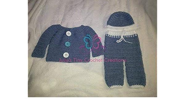 2a829f623044 Amazon.com  Crocheted Handmade Baby Newborn Infant Layette Gift Set ...