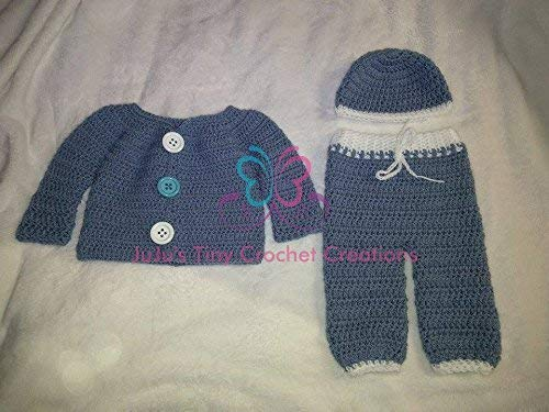 383902d59 Amazon.com  Crocheted Handmade Baby Newborn Infant Layette Gift Set ...