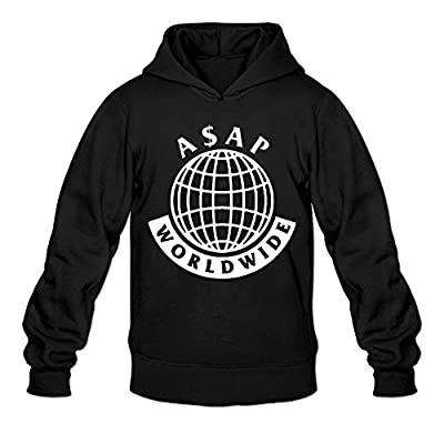 DVPHQ Men's Design Asap Mob Hoodie Black