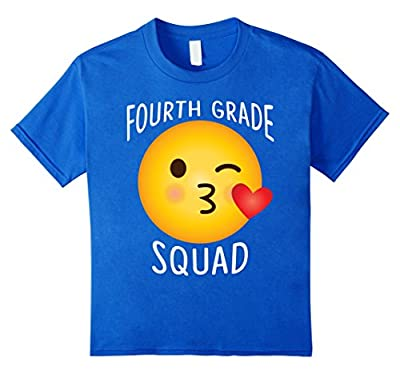 Funny Teacher Emoji Shirt 4th Grade Squad For Lover