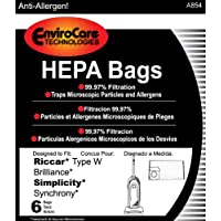 PAPER BAG, BRILLIANCE SYNCHRONY TYPE W HEPA 6PK