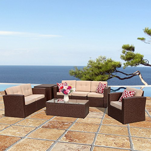 Outdoor Patio Furniture Dubai: PATIOROMA Outdoor Rattan Sectional Furniture Set With
