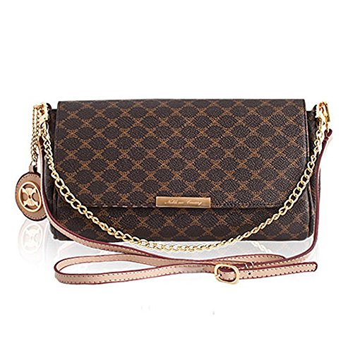 Leather Accents Baguette Bag (beige) (Fake Louis Vuitton Handbags)